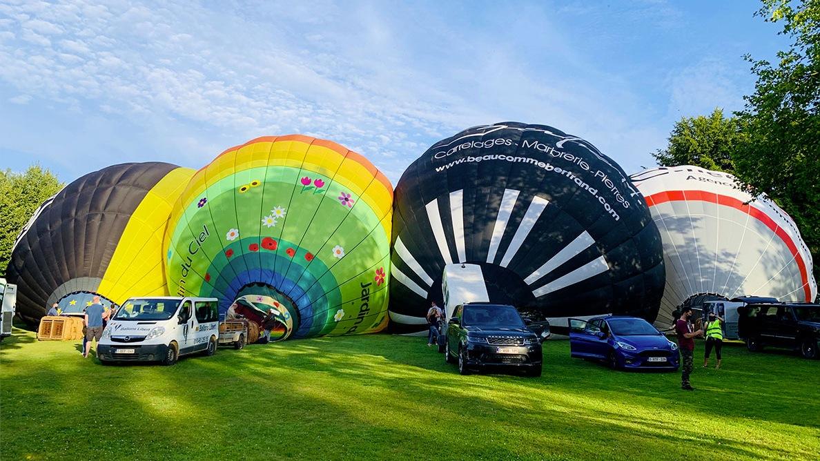 Une montgolfière pour un événement d'entreprise